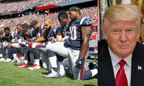 Giocatori in ginocchio durante l'inno. Trump: 'Licenziateli tutti!'