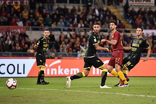 Roma-Frosinone 4-0: Under, Pastore, El Shaarawi e Kolarov salvano Di Francesco