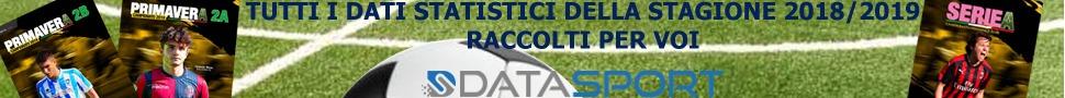 Almanacchi DataSport: tutta la stagione 2018-2019 dalla Serie A alla Primavera