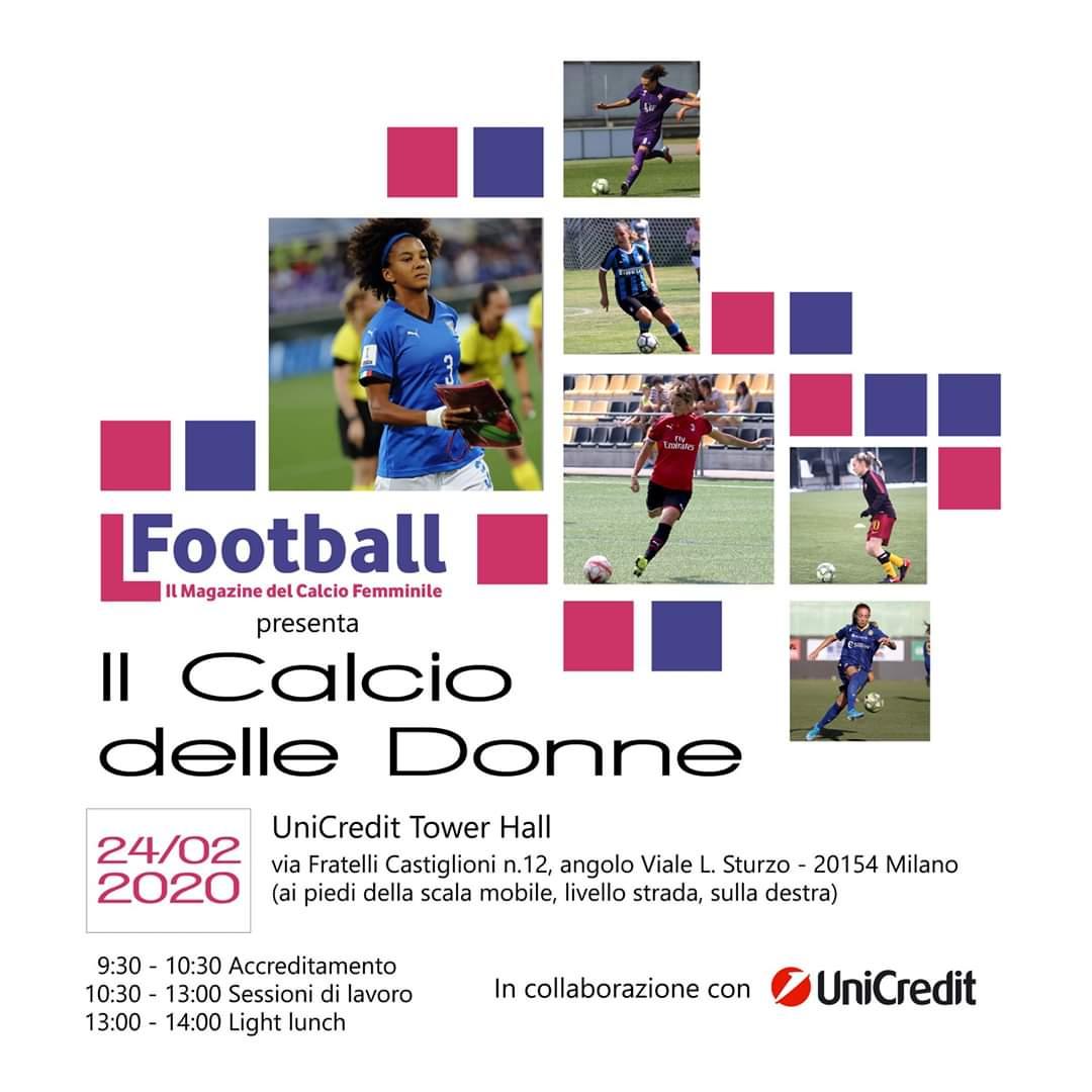 Femminile - Il calcio delle Donne: lunedì 24 febbraio l'evento a Milano