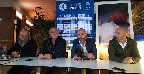 Fidelis Andria, ha inizio il nuovo corso: presentati Catalano e Moscelli