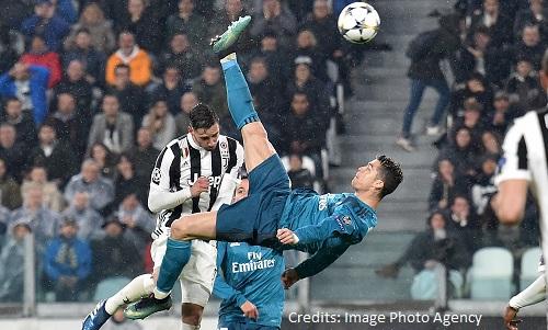 Juventus: Cristiano Ronaldo vince il premio dell'UEFA per il miglior gol del 2017-18