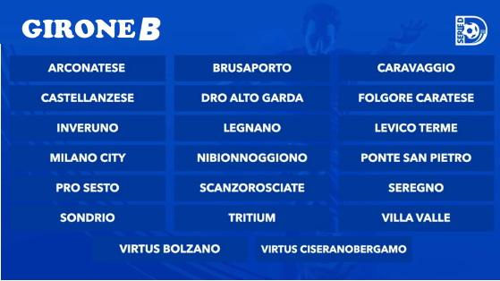 Serie D Girone B - Legnano, aggancio in vetta