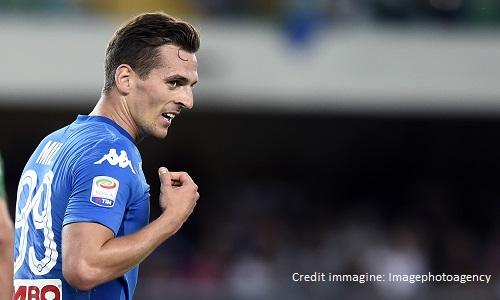 Doppio Milik e Mertens, il Napoli batte il Bologna