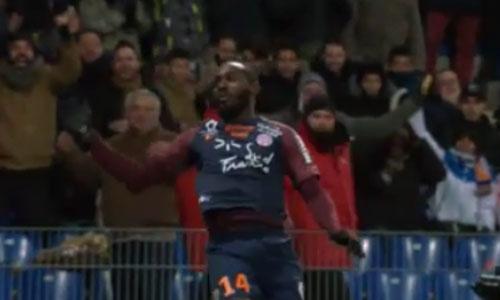 Montpellier, l'esultanza di Sio è un epic fail. Video