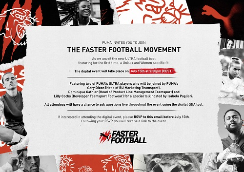 Save the date: Puma Faster Football press conference