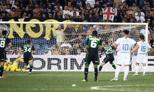 Serie A: Berardi gela l'Inter, il Sassuolo vince 1-0