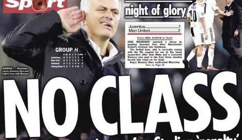 Mourinho, il gesto polemico divide anche l'Inghilterra