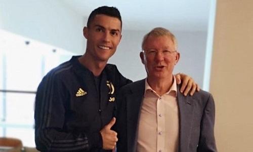 Cristiano Ronaldo, l'omaggio a Ferguson: