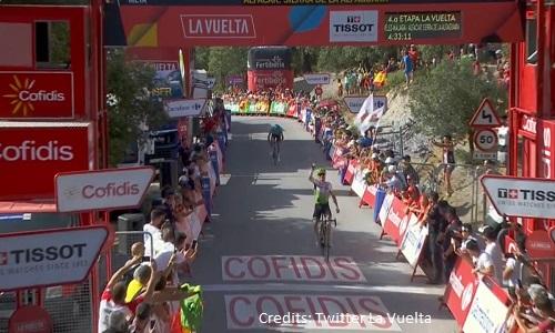 Vuelta 2018, 9a tappa: vince King, Yates nuova maglia rossa