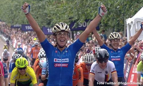 Ciclismo, Europei: impresa della Bastianelli, oro nella prova su strada