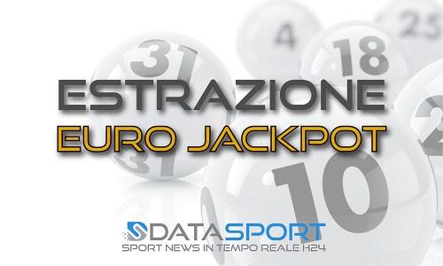 Estrazione Eurojackpot di venerdì 28 agosto 2020