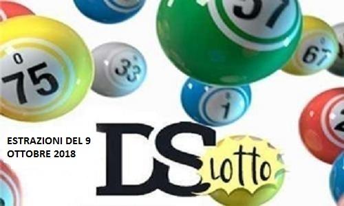 Estrazioni del Lotto di martedì 9 ottobre 2018 e Superenalotto: combinazione e jackpot. Live