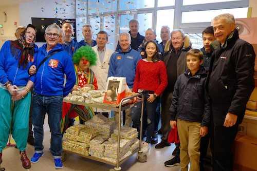 Befana a sopresa al Fatebenefratelli: il Maxibasket Milano visitano il reparto di Pediatria
