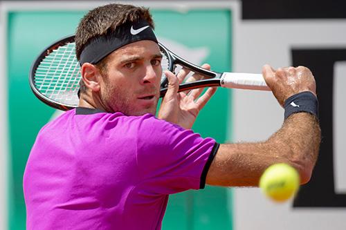 Tennis, frattura della rotula per Del Potro